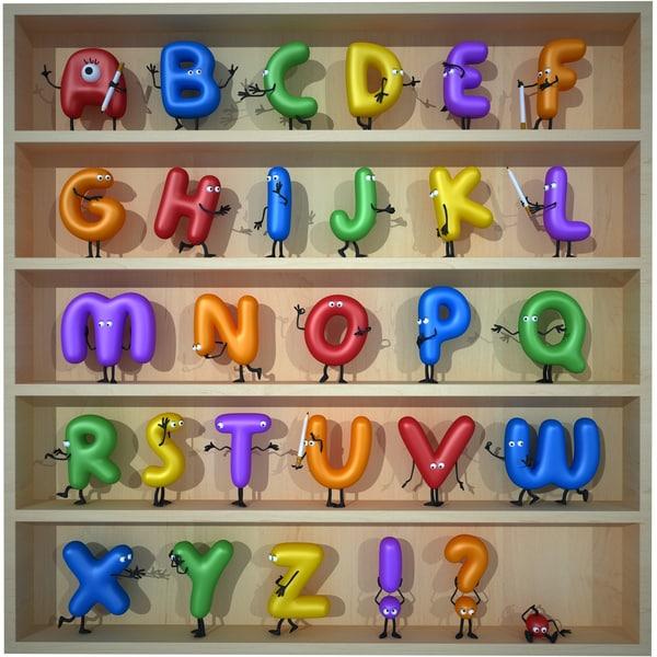 cartoon alphabet max
