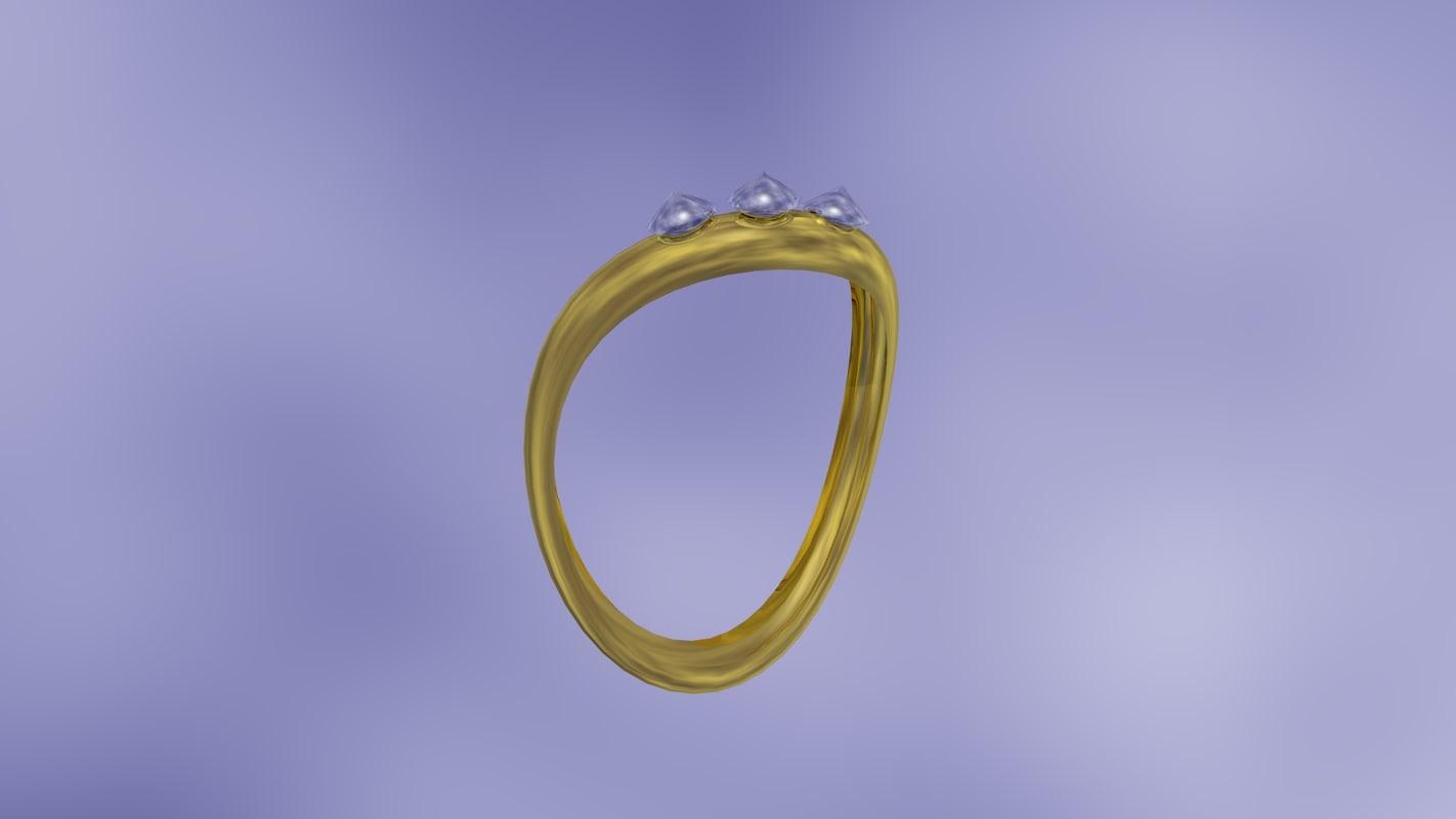 diamond studded ring 3ds