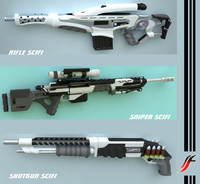 Collection Weapons SCIFI