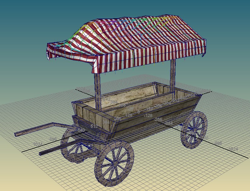 3d cart medieval