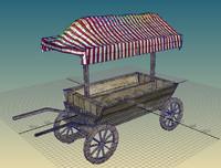 Medieval market cart