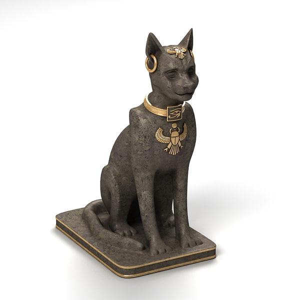 3d model statue ancient egypt