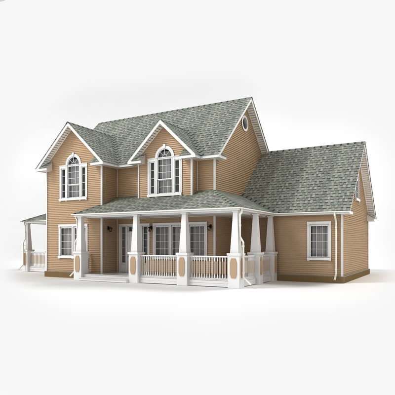 3ds two-story cottage