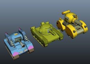 cartoon style tank 3d ma