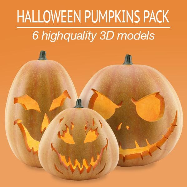 pack halloween pumpkins 3d 3ds