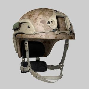 tactical helmet 3d c4d