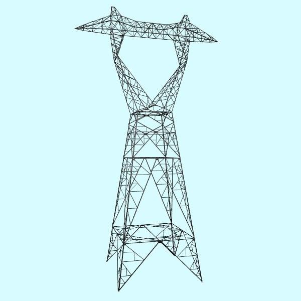 obj electrical transmission tower