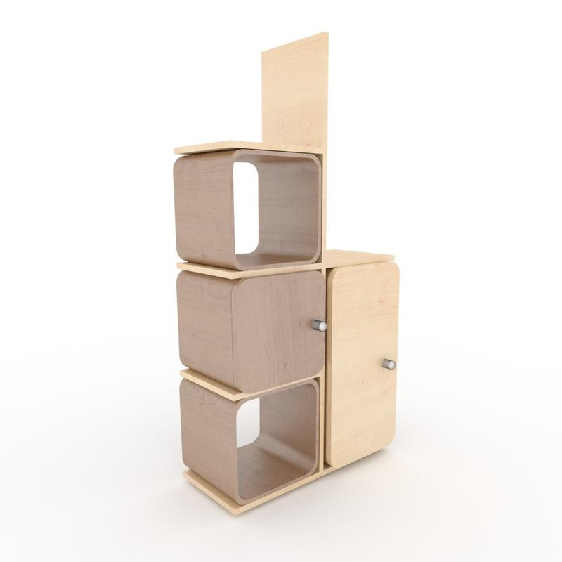 locker drawer 3d model