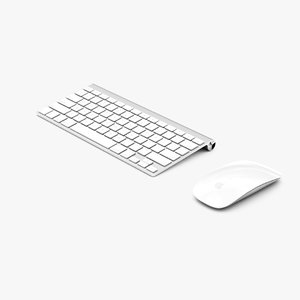 magic mouse keyboard 3d model