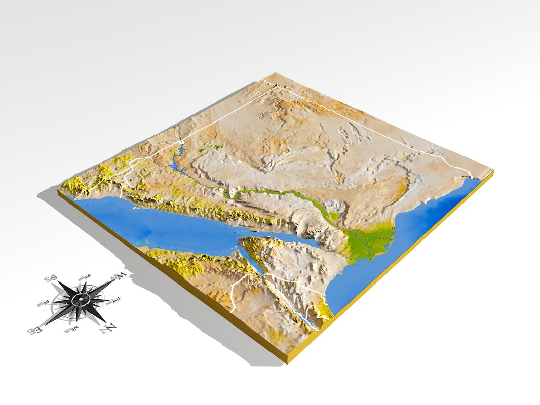 Resolution Relief Maps D Max - Map of egypt 3d