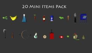 inventory items 3d fbx