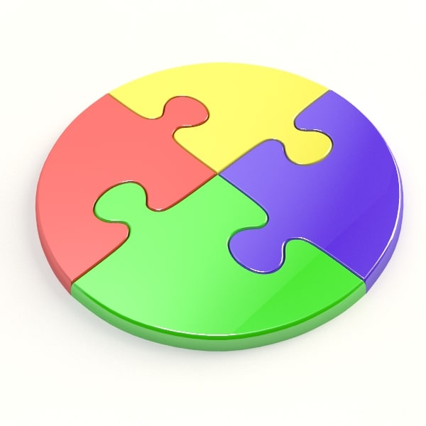 Free Circle Jigsaw Puzzle 3d Model