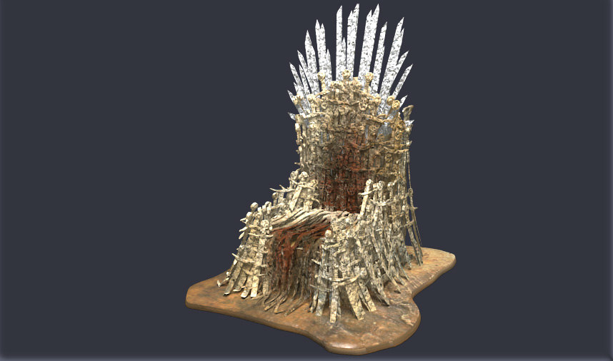 3ds max iron throne
