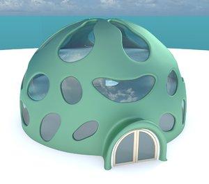 iglo house interior obj