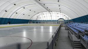 airstructure airdome hockey playground obj