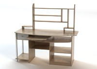 computer table 3d obj