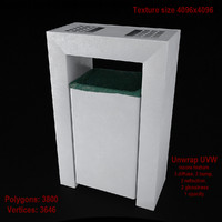 3d model dustbin 04 bin