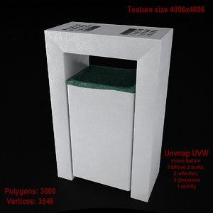3d model dustbin 04 bin