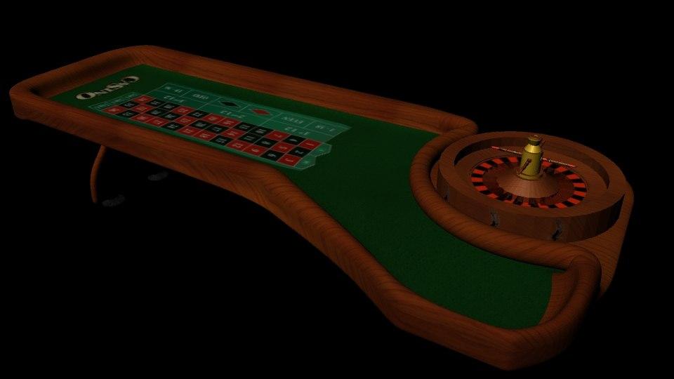 roulette table 3d obj