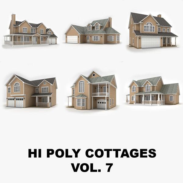 hi-poly cottages vol 7 3d max