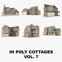 hi-poly cottages vol 7 3d max