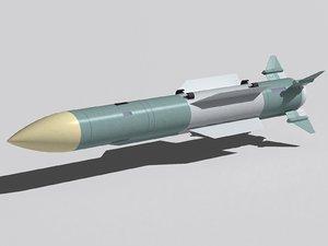 r-37 missile 3d max
