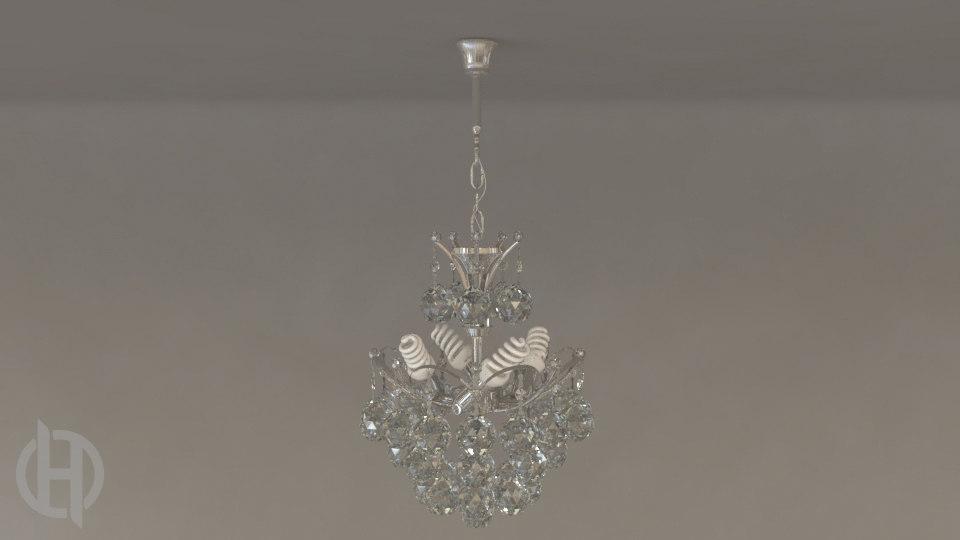 chandelier v2 0 lamp 3d model