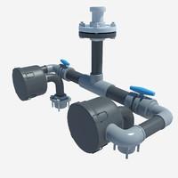 pipe pipeline 3d model