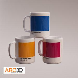3ds max pantone coffee mugs