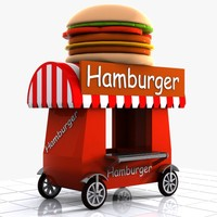 Cartoon Hamburger Cart