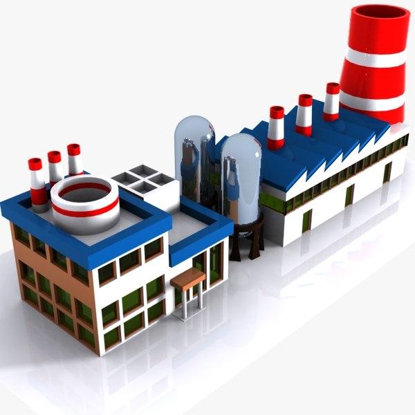 car factory 3d model