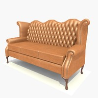 3 seater scroll sofa chair 3d 3ds