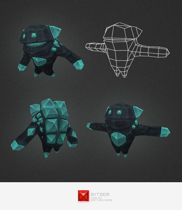 3d crystal elemental model