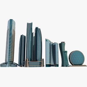 3dsmax abu dhabi buildings