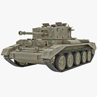 Britain Cruiser WWII Tank Mk VIII Cromwell Yellow Rigged
