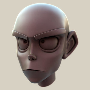 cartoon head toon 3d model