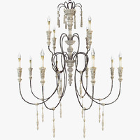 Currey and company - Hannah chandelier large Art 9117