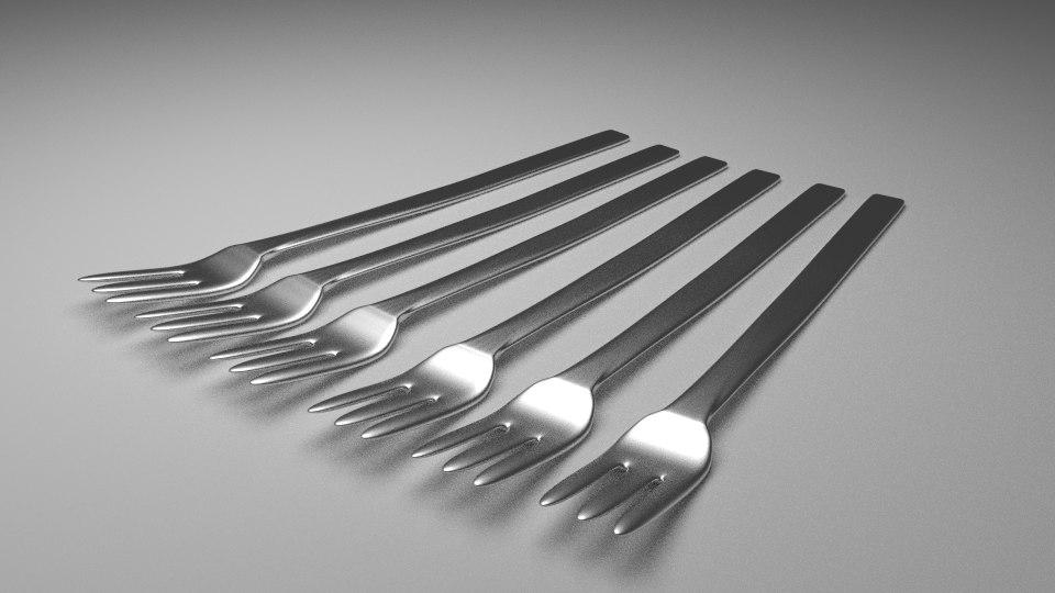 fork plate 3d model
