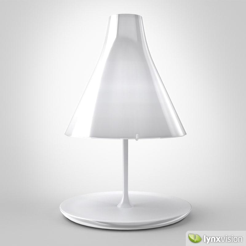 3d model tosca table lamp foscarini