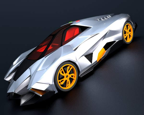 3d lamborghini egoista sport concept car