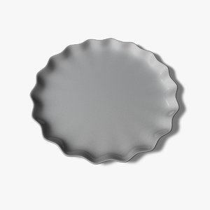 3ds max flower plate