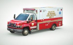 2010 ambulance gmc c4500 3d 3ds