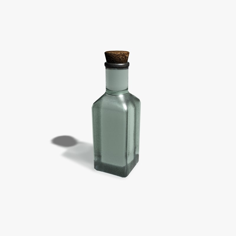 square bottle glass dxf