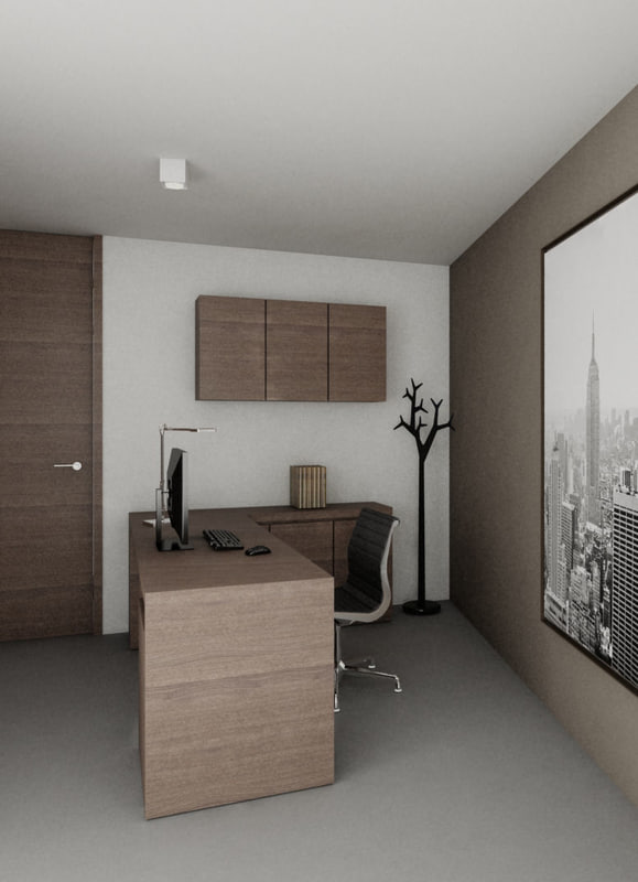 3ds max office table -