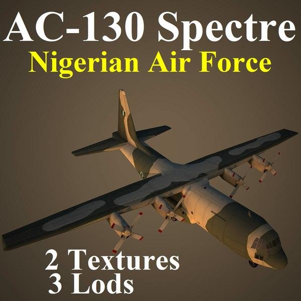 ac-130 spectre naf 3d model