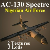 ac-130 spectre naf 3d model