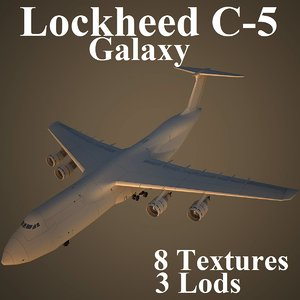 lockheed c-5 3d model