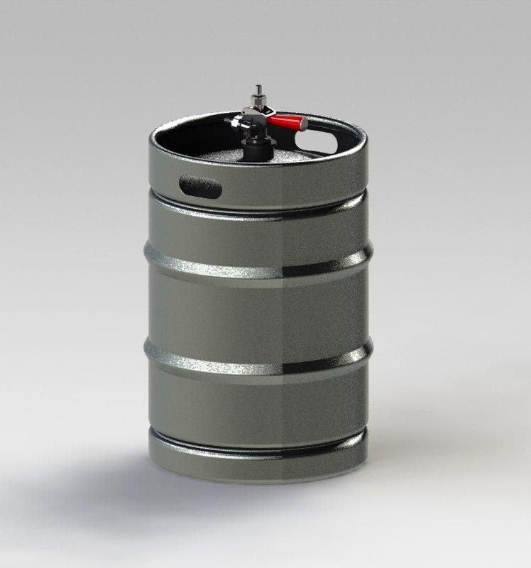 assembly beer kegs 3d model
