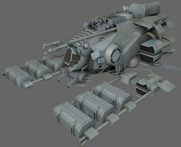 mining ship 3d model