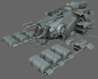 3d model mining ship
